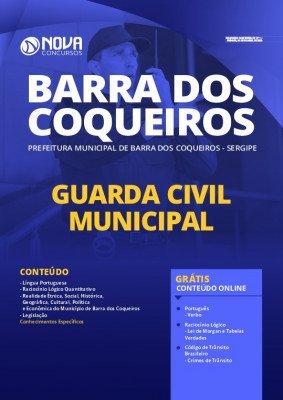 Apostila Prefeitura Barra dos Coqueiros 2020 Guarda Municipal Impressa e PDF Grátis Cursos Online