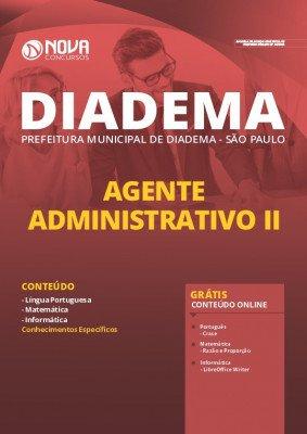 Apostila Concurso Prefeitura de Diadema 2020 Agente Administrativo Grátis Cursos Online