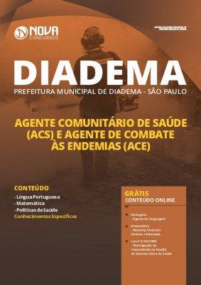 Apostila Concurso Prefeitura de Diadema 2020 Agente Comunitário de Saúde e Agente de Combate às Endemias Impressa e PDF Grátis Cursos Online.