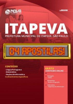 Apostila Concurso Prefeitura de Itapeva SP 2020 Grátis Cursos Online