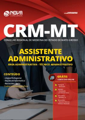 Apostila Concurso CRM MT 2020 Técnico Administrativo Grátis Cursos Online
