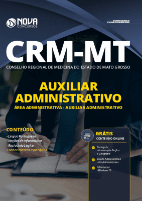 Apostila Concurso CRM MT 2020 Auxiliar Administrativo Grátis Cursos Online