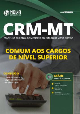 Apostila Concurso CRM MT 2020 Cargos de Nível Superior Impressa e PDF Grátis Cursos Online
