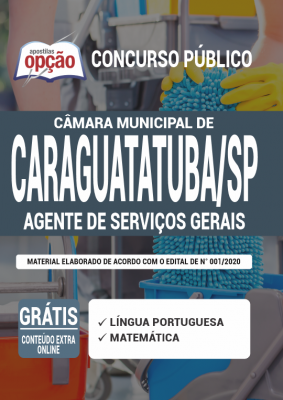 Apostila Caraguatatuba SP 2020 PDF e Impressa Cargo Auxiliar de Serviços Gerais