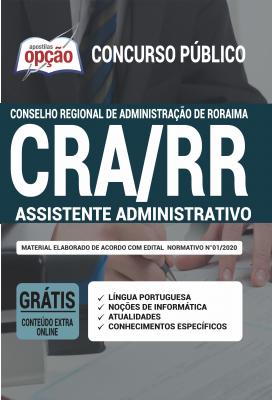 Apostila Concurso CRA RR 2020 PDF e Impressa Assistente Administrativo