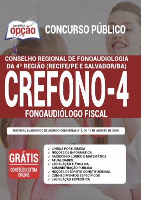 Apostila Concurso Crefono 4 2020 PDF e Impressa Cargo Fonoaudiólogo Fiscal