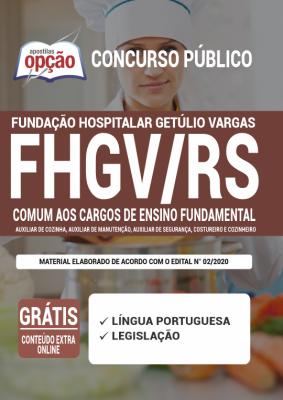 Apostila FHGV RS 2020 PDF e Impressa Cargos de Ensino Fundamental
