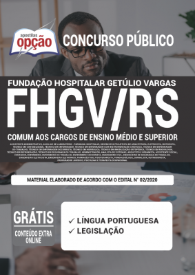 Apostila Concurso FHGV RS 2020 PDF e Impressa Cargos de Ensino Médio e Superior
