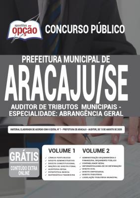 Apostila Prefeitura de Aracaju 2020 Auditor de Tributos Municipais PDF e Impressa