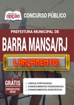 Apostila Concurso Prefeitura de Barra Mansa RJ 2020 PDF e Impressa