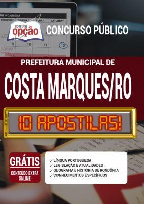 Apostila Concurso Prefeitura de Costa Marques RO 2020 PDF e Impressa