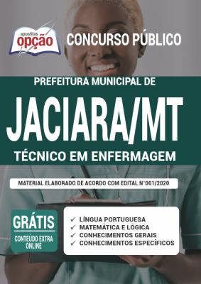 Apostila Concurso Prefeitura de Jaciara MT 2020 PDF e Impressa Cargo Técnico em Enfermagem