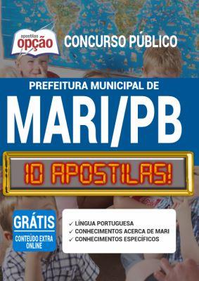 Apostila Concurso Prefeitura de Mari PB 2020 PDF e Impressa