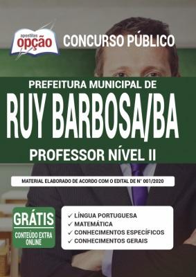 Apostila Concurso Prefeitura de Ruy Barbosa BA 2020 PDF e Impressa