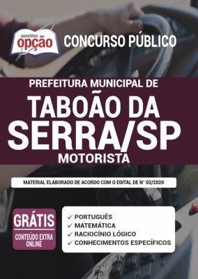 Apostila Concurso Prefeitura de Taboão da Serra SP 2020 PDF e Impressa