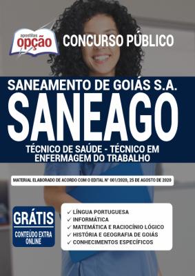 Apostila SANEAGO 2020 PDF e Impressa Cargo Técnico em Enfermagem do Trabalho