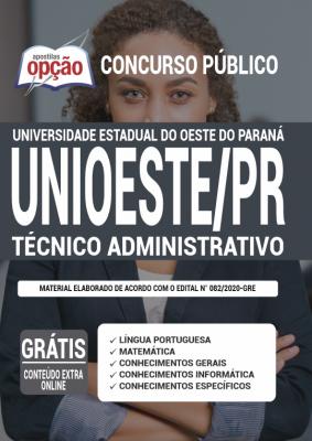 Apostila Concurso UNIOESTE PR 2020 PDF e Impressa Técnico Administrativo