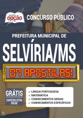 Apostila Concurso Câmara de Selvíria MS 2020 PDF e Impressa