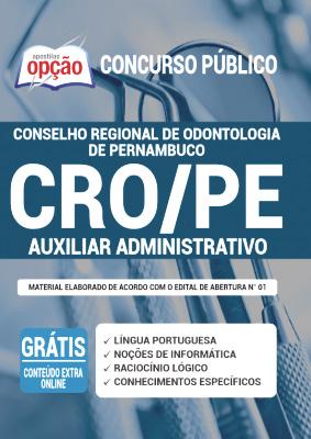 Apostila Concurso CRO PE 2020 PDF Download e Impressa Auxiliar Administrativo