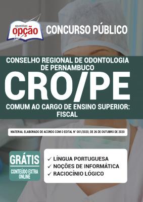 Apostila Concurso CRO PE 2020 PDF Download e Impressa Fiscal