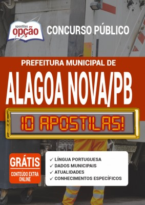 Apostila Concurso Prefeitura de Alagoa Nova PB 2020 PDF e Impressa