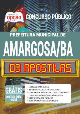 Apostila Concurso Prefeitura de Amargosa BA 2020 PDF Impressa