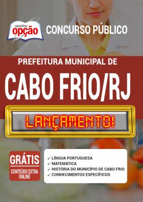 Apostila Concurso Prefeitura de Cabo Frio RJ 2020 PDF Impressa