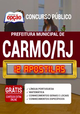 Apostila Prefeitura de Carmo RJ 2020 PDF e Impressa