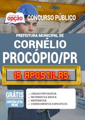 Apostila Concurso Prefeitura de Cornélio Procópio PR 2020 PDF e Impressa