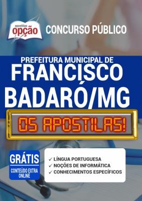 Apostila Concurso Prefeitura de Francisco Badaró MG 2020 PDF e Impressa