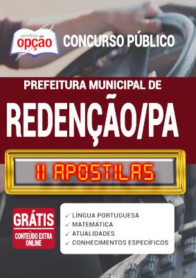 Apostila Concurso Prefeitura de Redenção PA 2020 PDF e Impressa