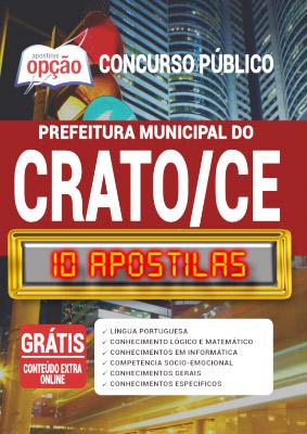 Apostila Concurso Prefeitura do Crato CE 2020 PDF e Impressa