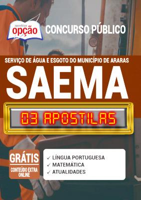 Apostila Concurso SAEMA Araras SP 2020 PDF e Impressa