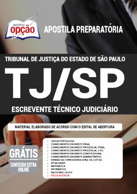Apostila Concurso TJ SP 2021 PDF e Impressa Escrevente Técnico Judiciário Editora Opção