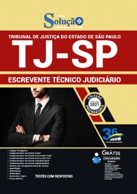 Apostila Concurso TJ SP 2021 PDF e Impressa Escrevente Técnico Judiciário Editora Solução
