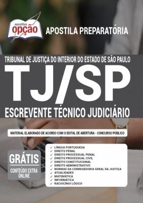 Apostila Concurso TJ SP 2021 PDF e Impressa Escrevente