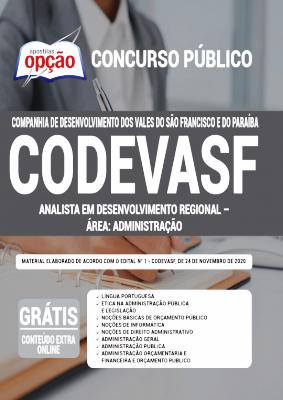 Apostila CODEVASF 2020 PDF e Impressa Cargo Analista Área Administração