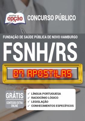 Apostila Concurso FSNH RS 2020 PDF e Impressa Novo Hamburgo