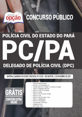 Apostila Concurso PC PA 2020 Delegado PDF e Impressa