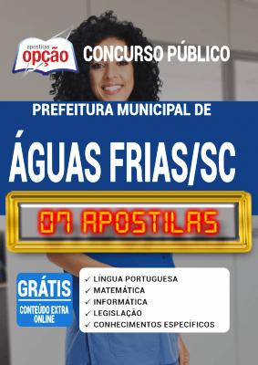 Apostila Concurso Águas Frias SC 2020 PDF e Impressa