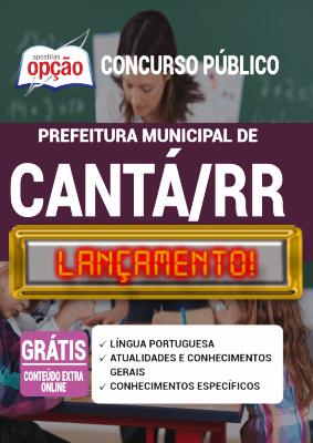 Apostila Concurso Prefeitura de Cantá RR 2020 PDF e Impressa