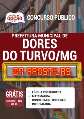 Apostila Concurso Prefeitura de Dores do Turvo MG 2020 PDF e Impressa