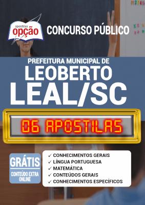 Apostila Concurso Prefeitura de Leoberto Leal SC 2020 PDF e Impressa