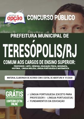 Apostila Teresópolis RJ 2020 PDF e Impressa Comum a Cargos de Professor