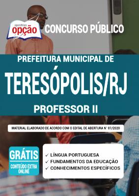 Apostila Teresópolis RJ 2020 PDF Download e Impressa Professor II