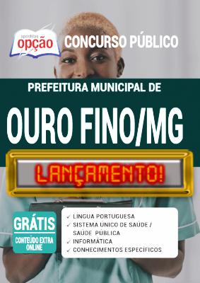 Apostila Prefeitura de Ouro Fino MG 2020 PDF e Impressa