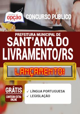 Apostila Santana do Livramento RS 2020 PDF e Impressa