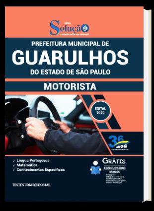 Apostila Concurso Guarulhos SP 2021 Motorista PDF Download e Impressa
