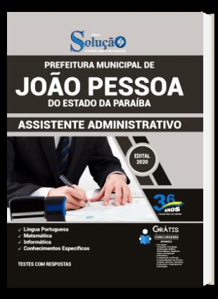 Apostila Concurso João Pessoa 2020 Assistente Administrativo PDF e Impressa