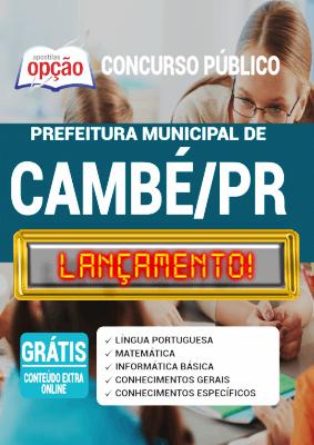 Apostila Concurso Prefeitura de Cambé PR 2020 PDF e Impressa